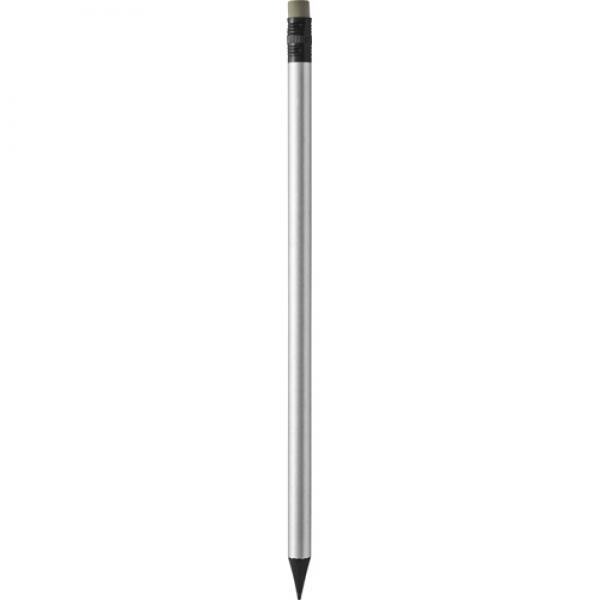 Ołówek z gumką, szary
