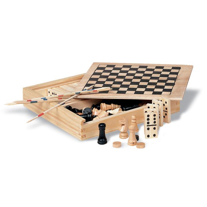 4 gry w drewnianym opakowaniu Trikes