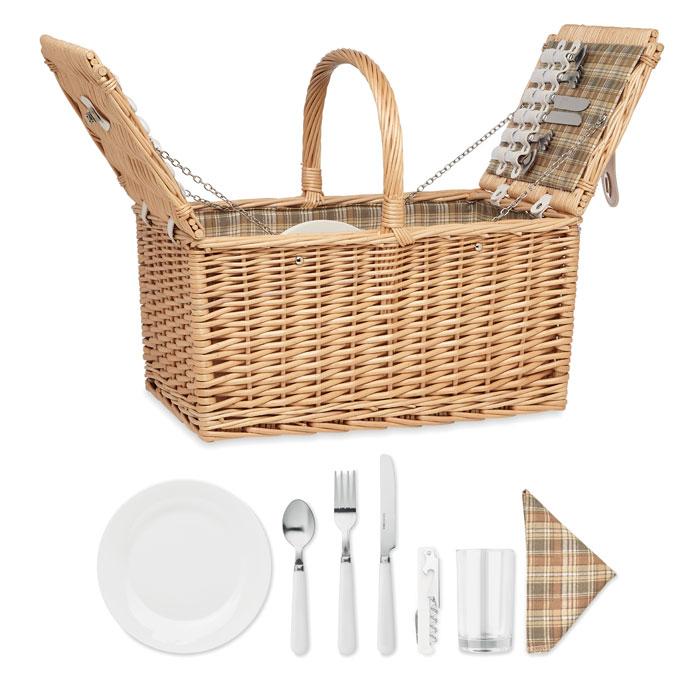 Wiklinowy kosz piknikowy MIMBRE PLUS
