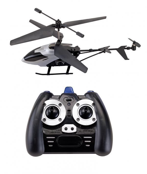 Helikopter FLY AWAY, czarny, srebrny