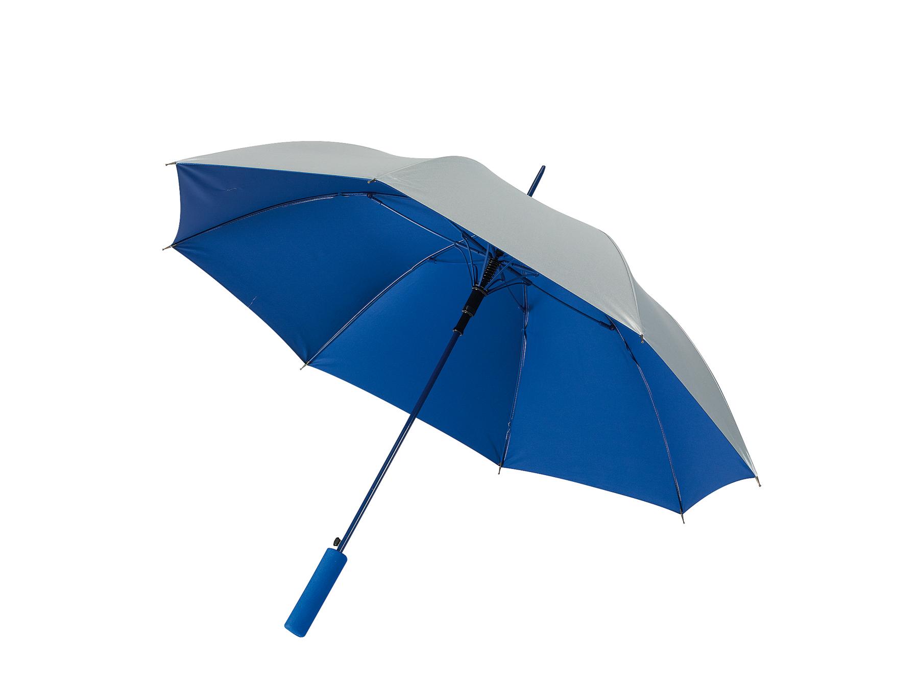 Automatyczny parasol JIVE, niebieski, srebrny