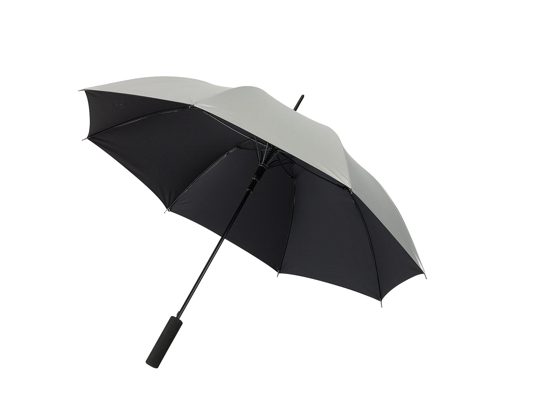 Automatyczny parasol JIVE, czarny, srebrny