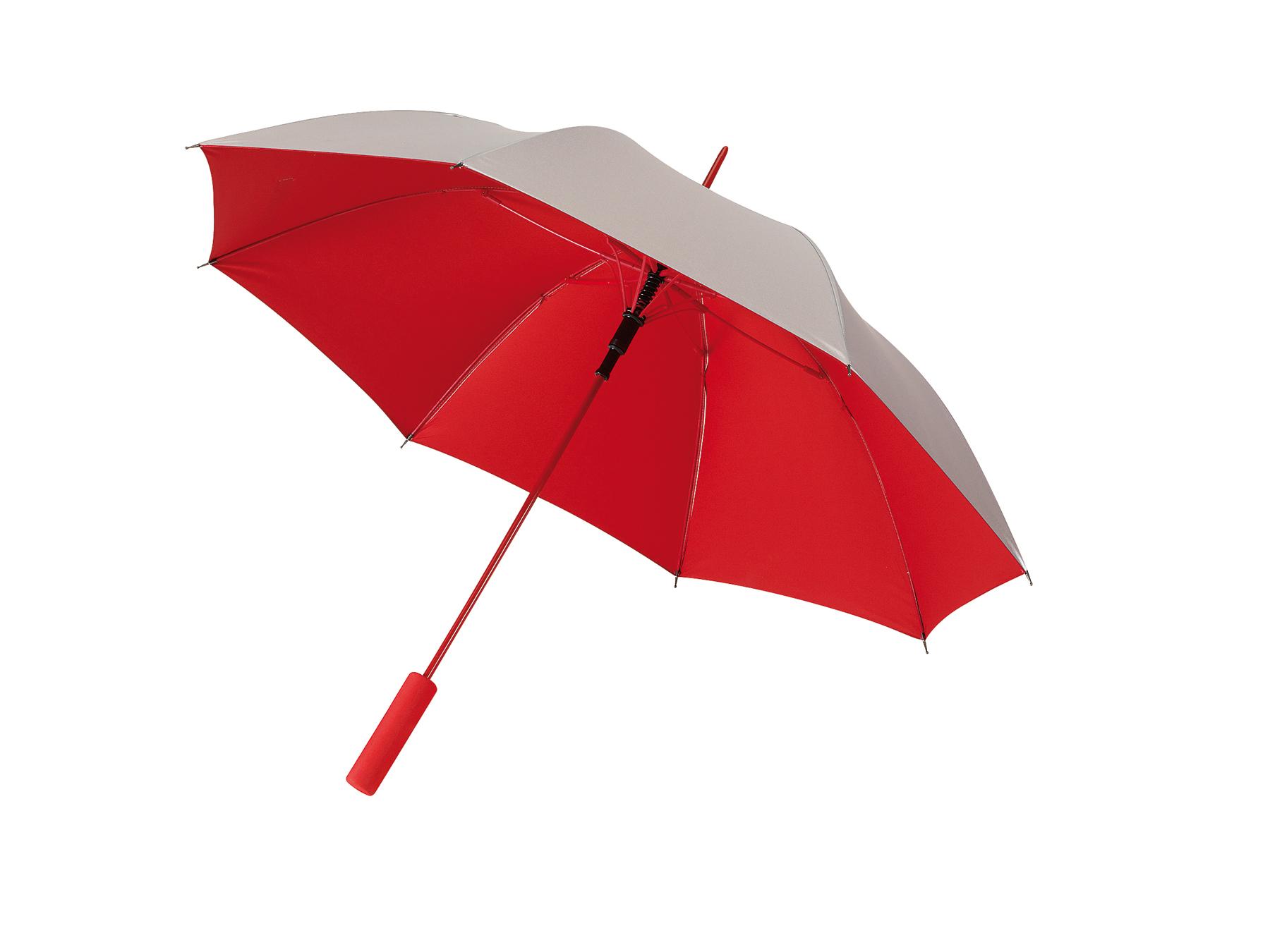Automatyczny parasol JIVE, czerwony, srebrny