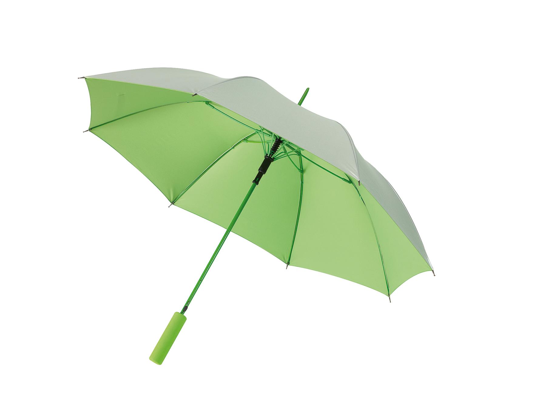 Automatyczny parasol JIVE, jasnozielony, srebrny
