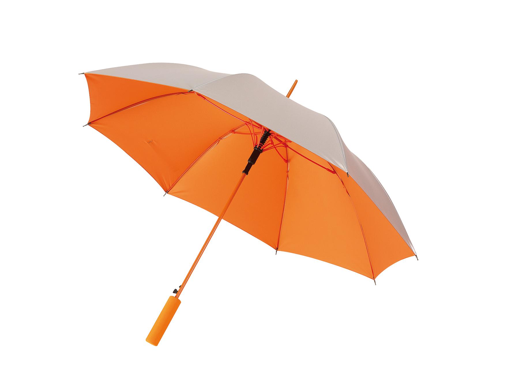 Automatyczny parasol JIVE, pomarańczowy, srebrny