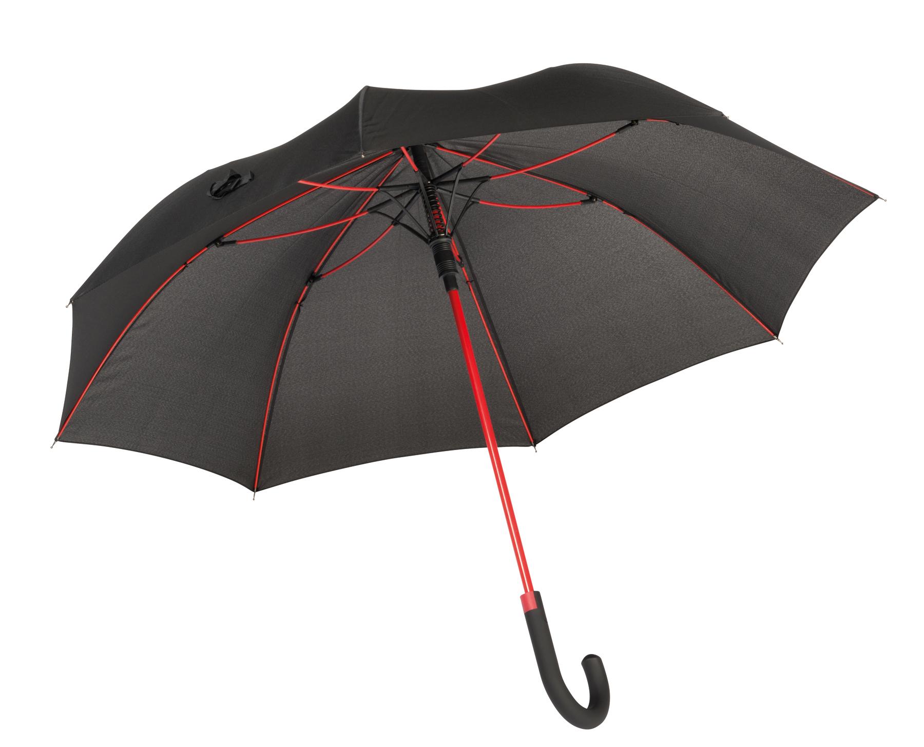 Parasol automatyczny CANCAN, czarny, czerwony