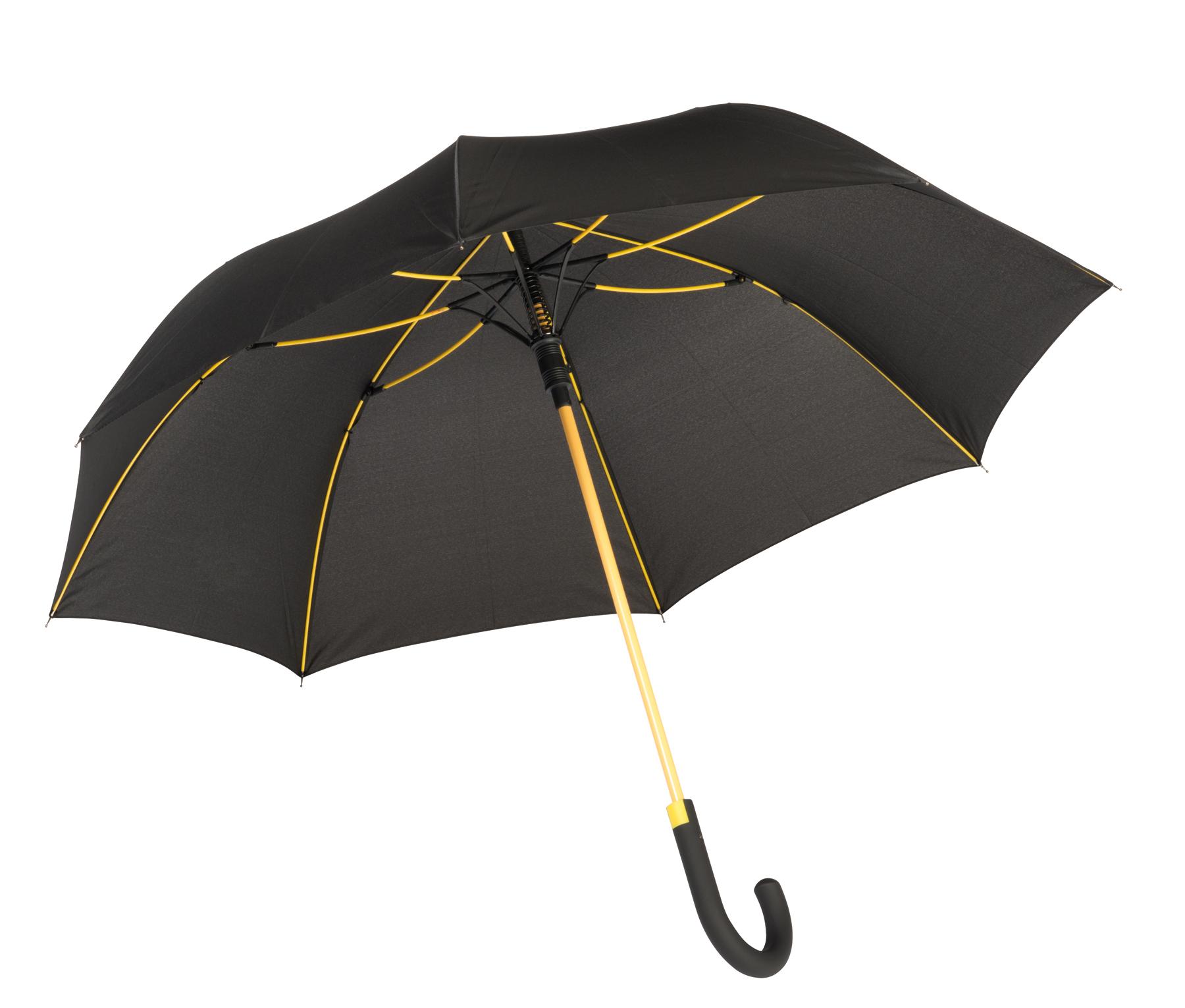 Parasol automatyczny CANCAN, czarny, żółty