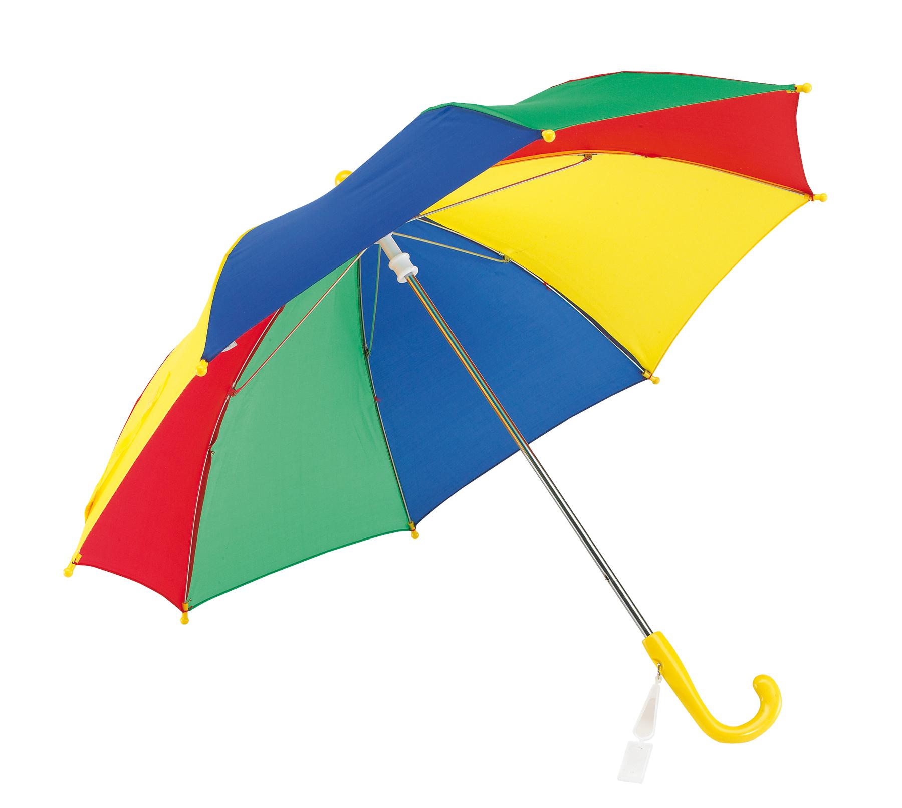 Parasol dziecięcy, czerwony, niebieski, zielony, żółty
