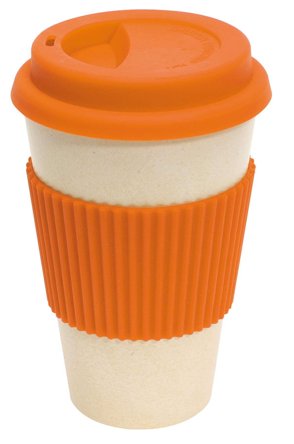 Kubek bambusowy ECO CUP, pomarańczowy