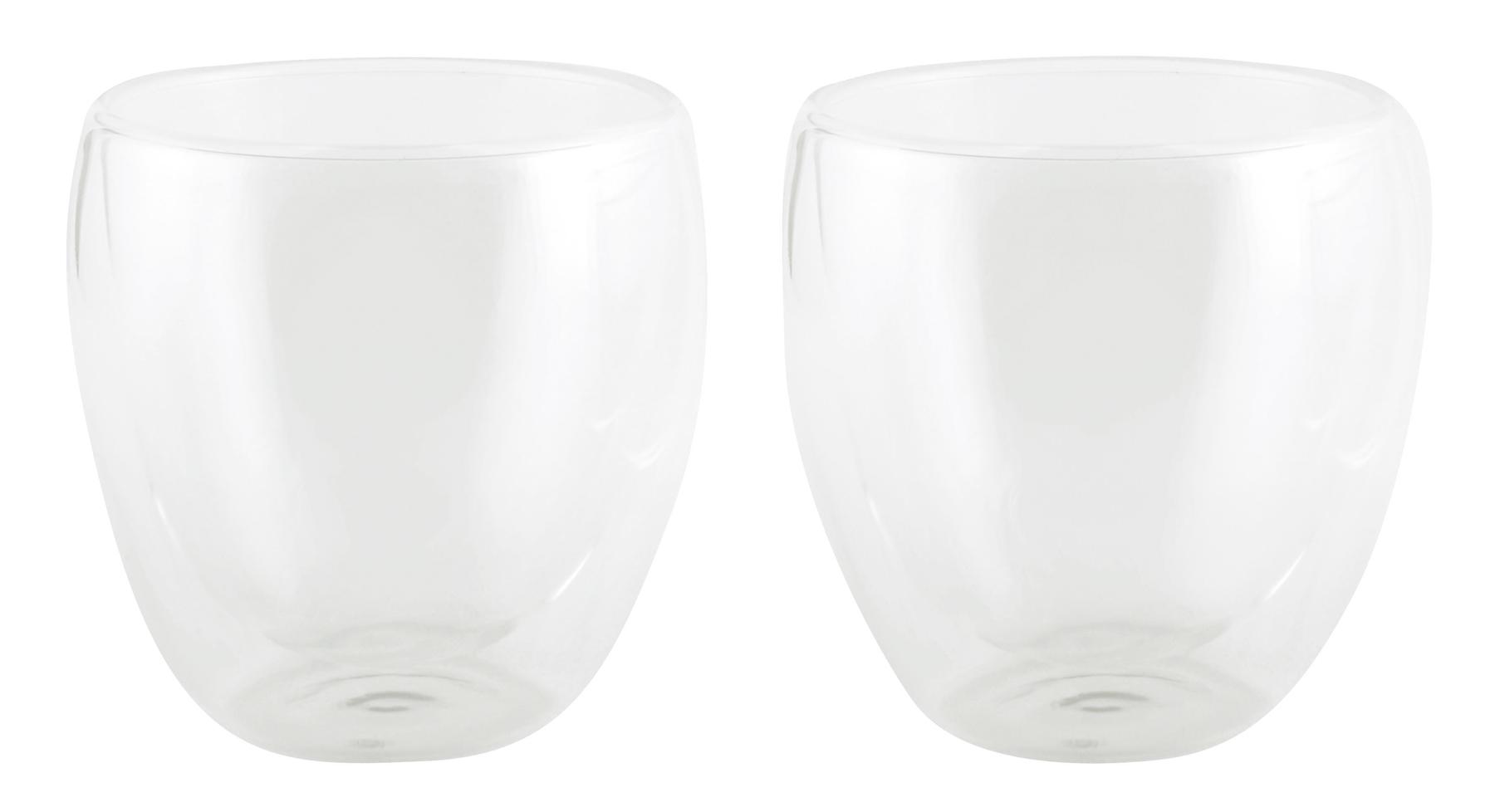 Zestaw 2 szklanek DRINK LINE, transparentny