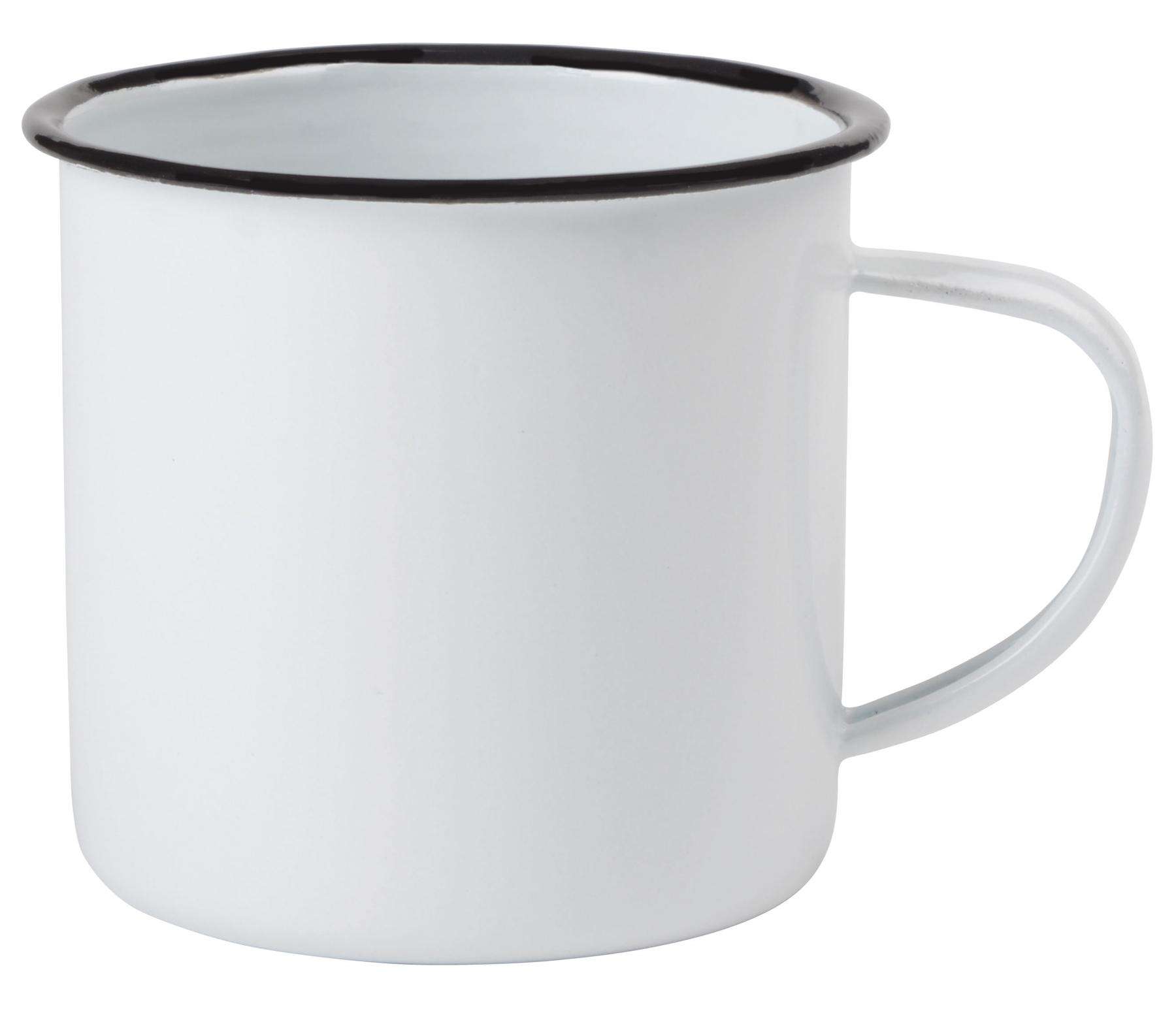 Kubek emaliowany RETRO CUP, biały