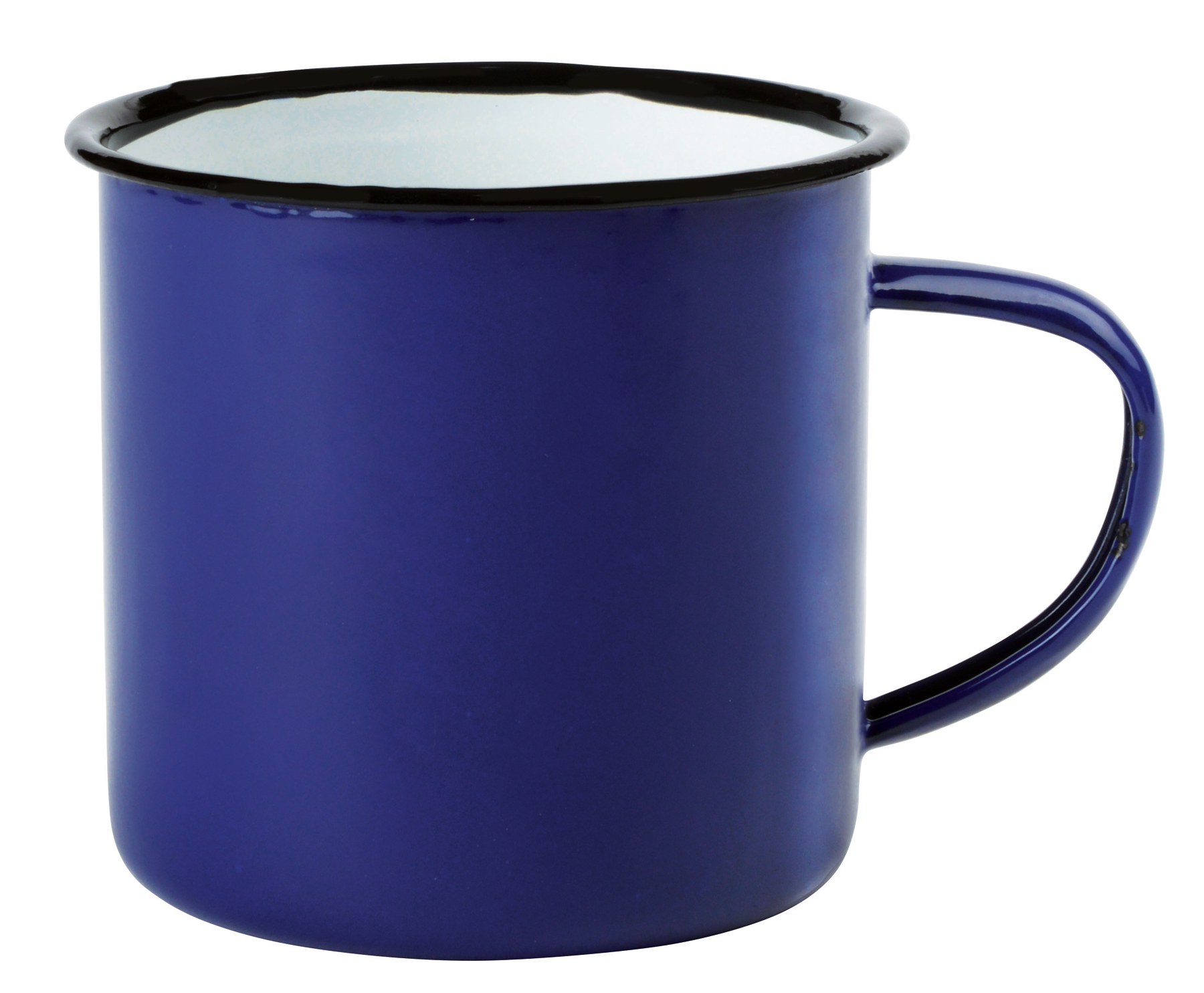 Kubek emaliowany RETRO CUP, biały, niebieski