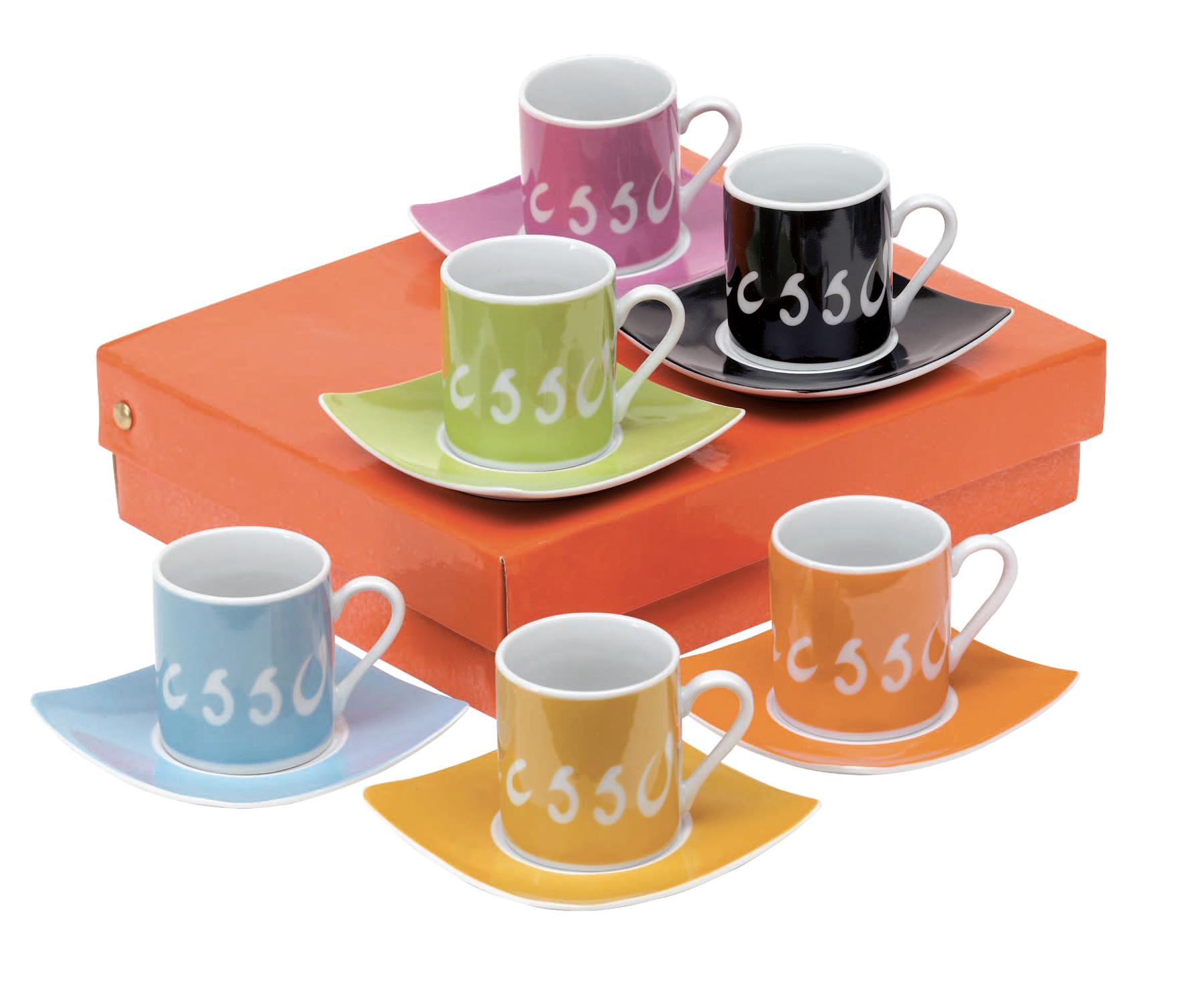 Zestaw do espresso, kolorowy