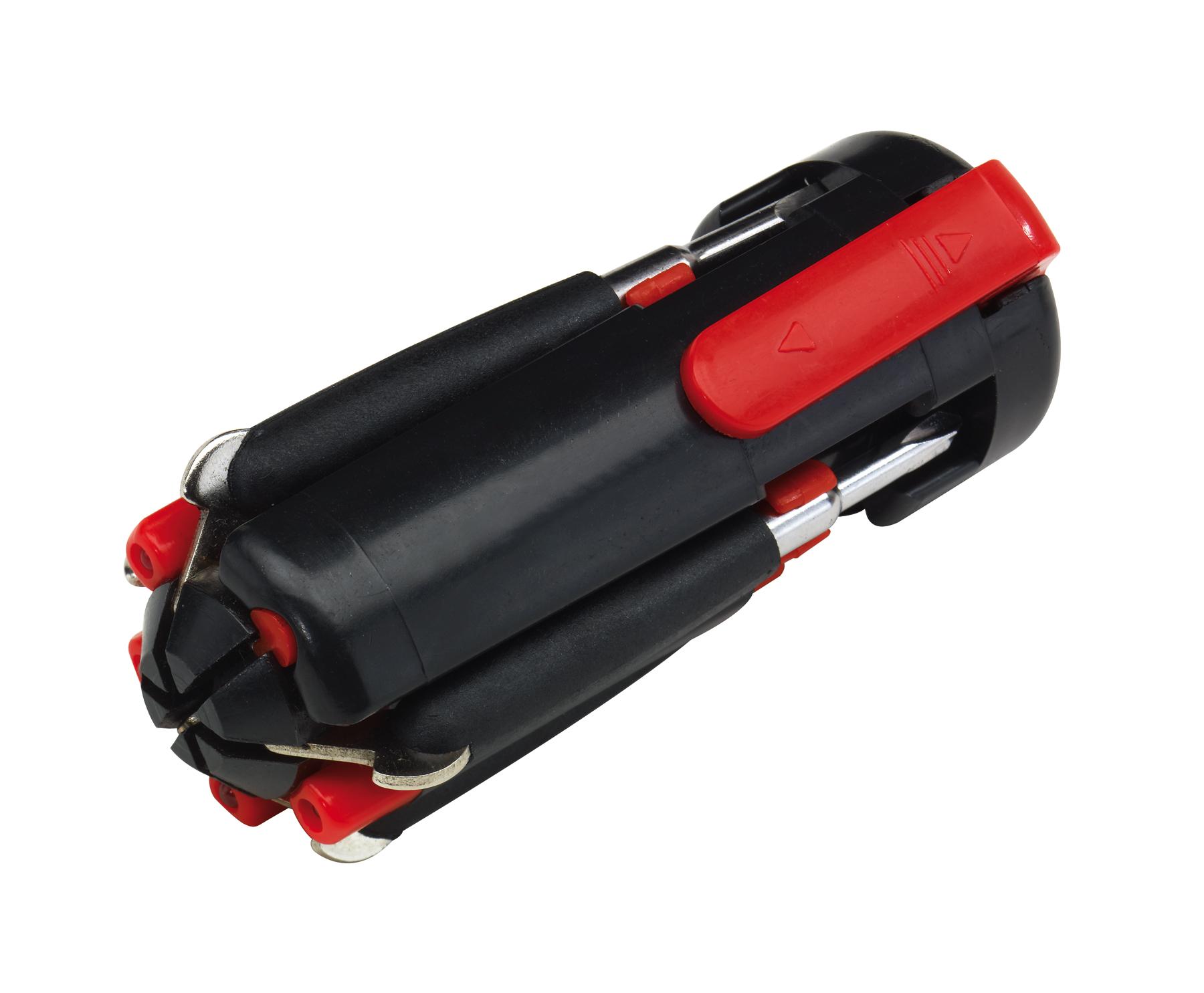 Zestaw śrubokrętów 6in1, czarny, czerwony