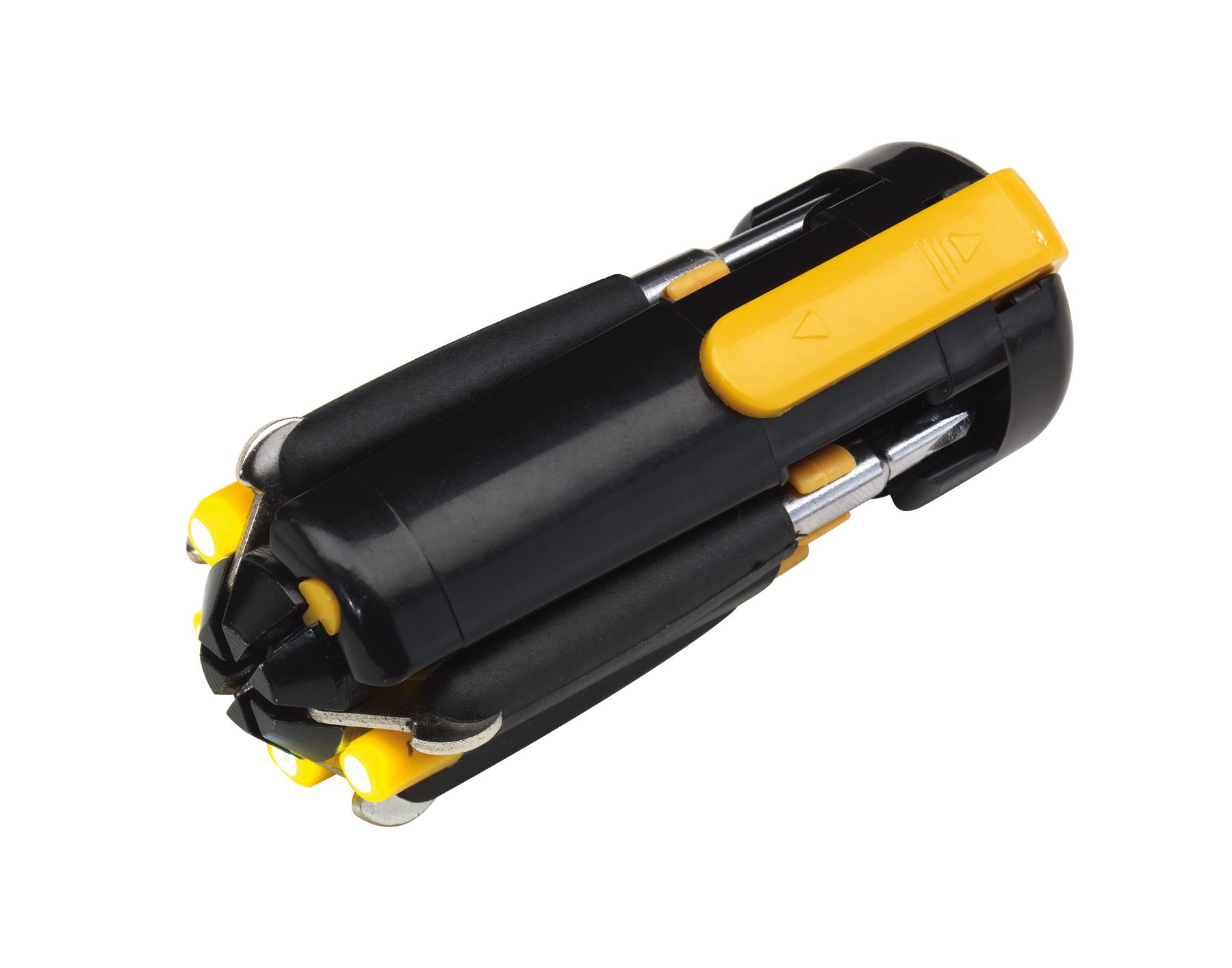 Zestaw śrubokrętów 6in1, czarny, żółty