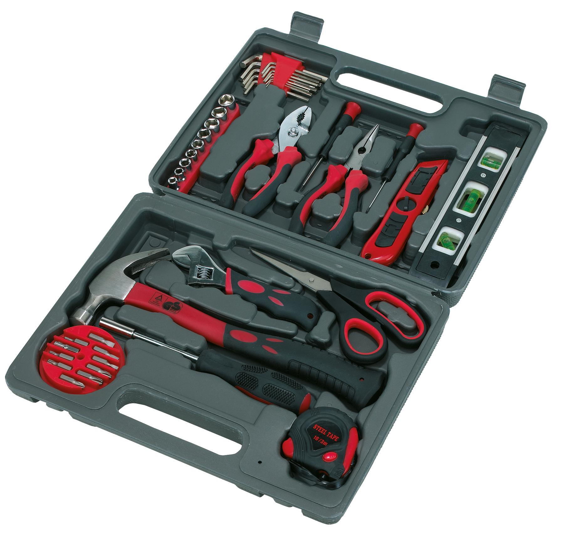 Zestaw narzędzi 42-części, czarny, czerwony