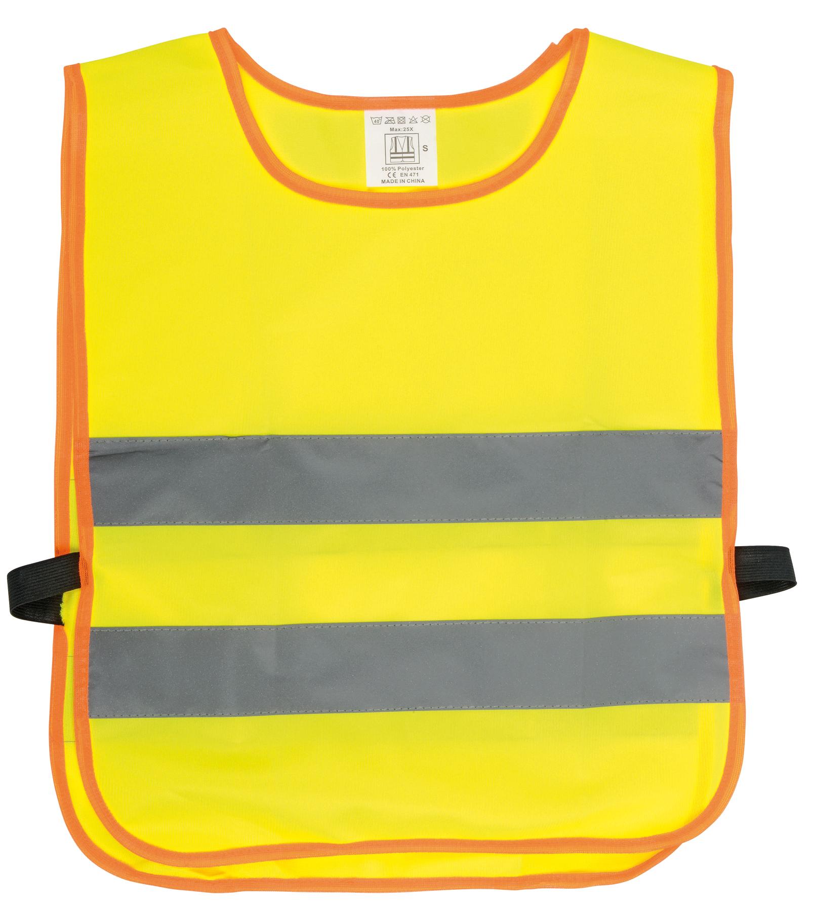 Kamizelka odblaskowa dla dzieci MINI HERO., pomarańczowy, szary, żółty