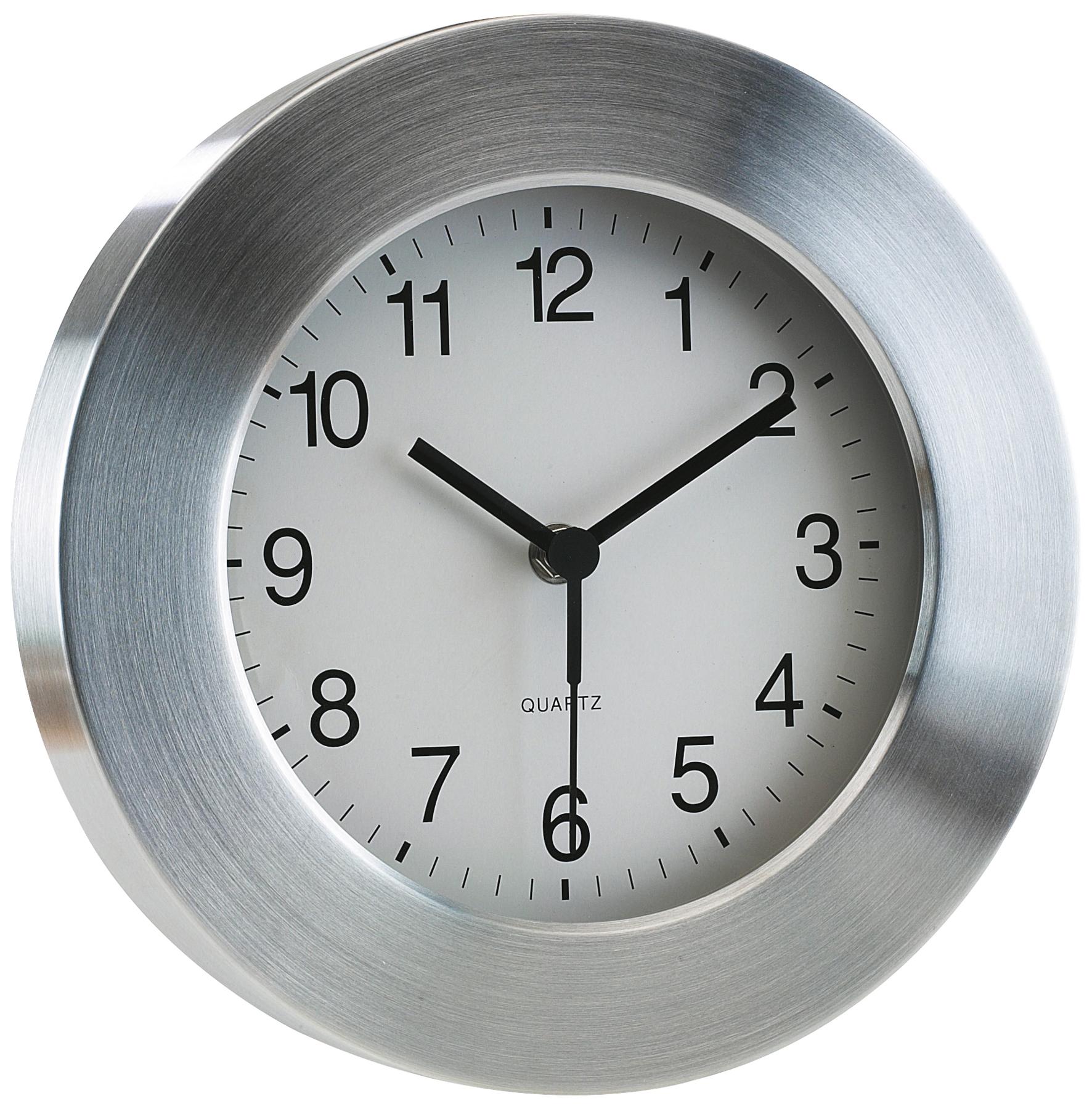 Aluminiowy zegar VENUS, srebrny