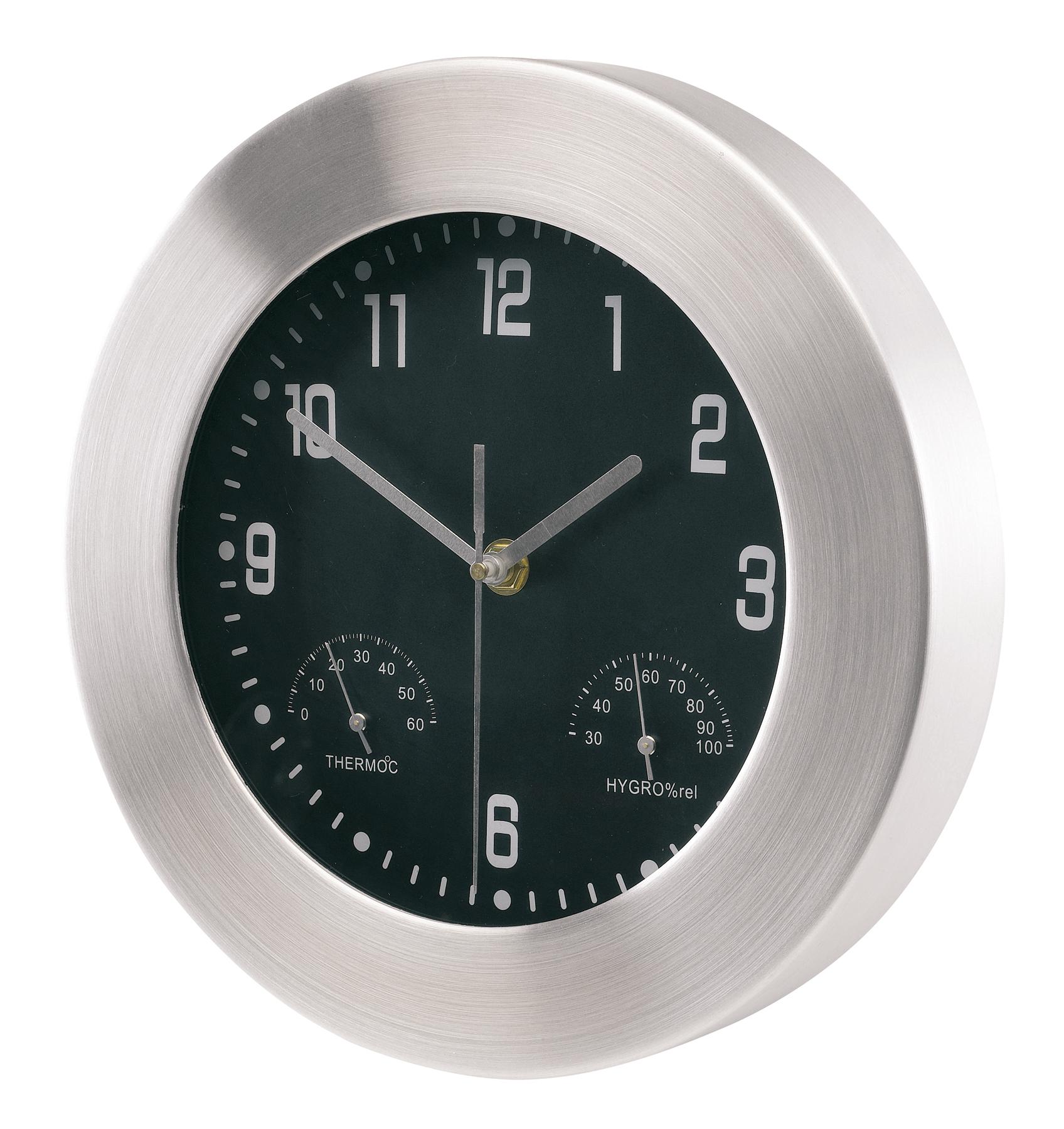 Aluminiowy zegar JUPITER, srebrny