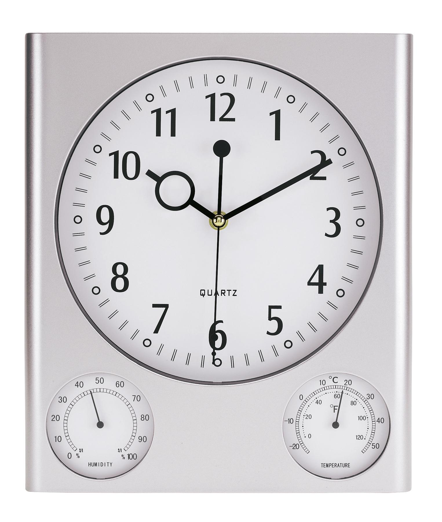 Zegar ścienny SATURN, srebrny