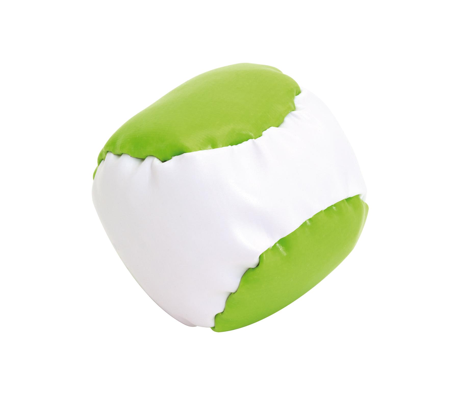 Piłeczka antystresowa JUGGLE, biały, jasnozielony