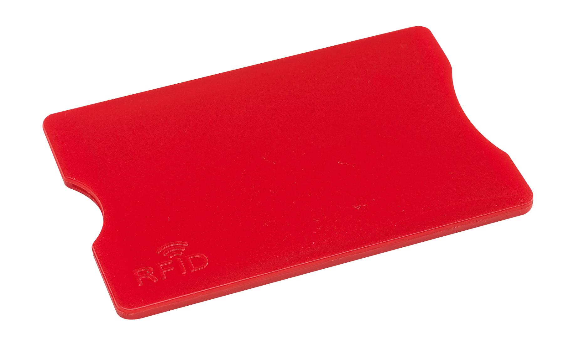 Etui na kartę kredytową PROTECTOR, czerwony