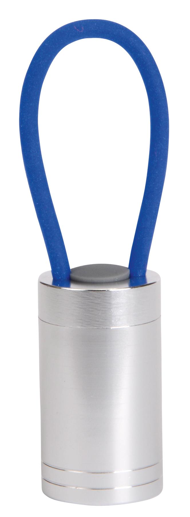 Lampka LUMINOUS, niebieski, srebrny