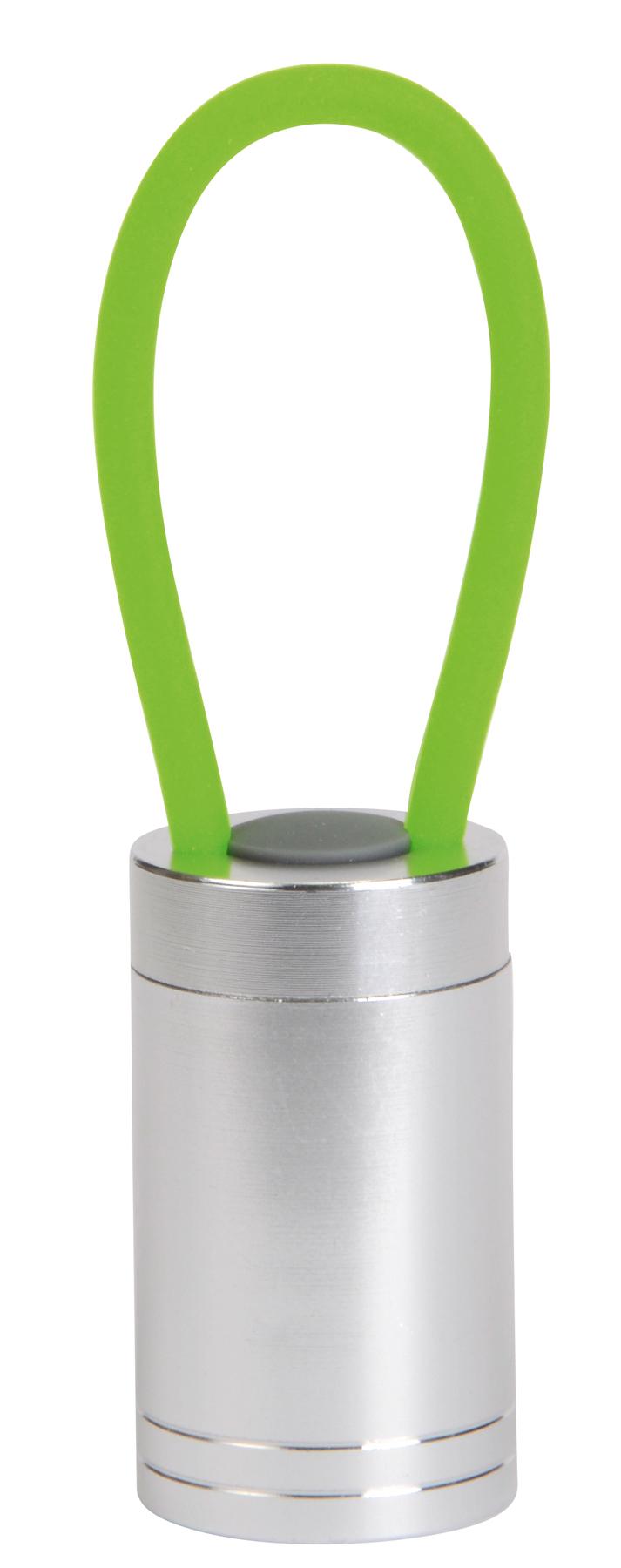 Lampka LUMINOUS, srebrny, zielony