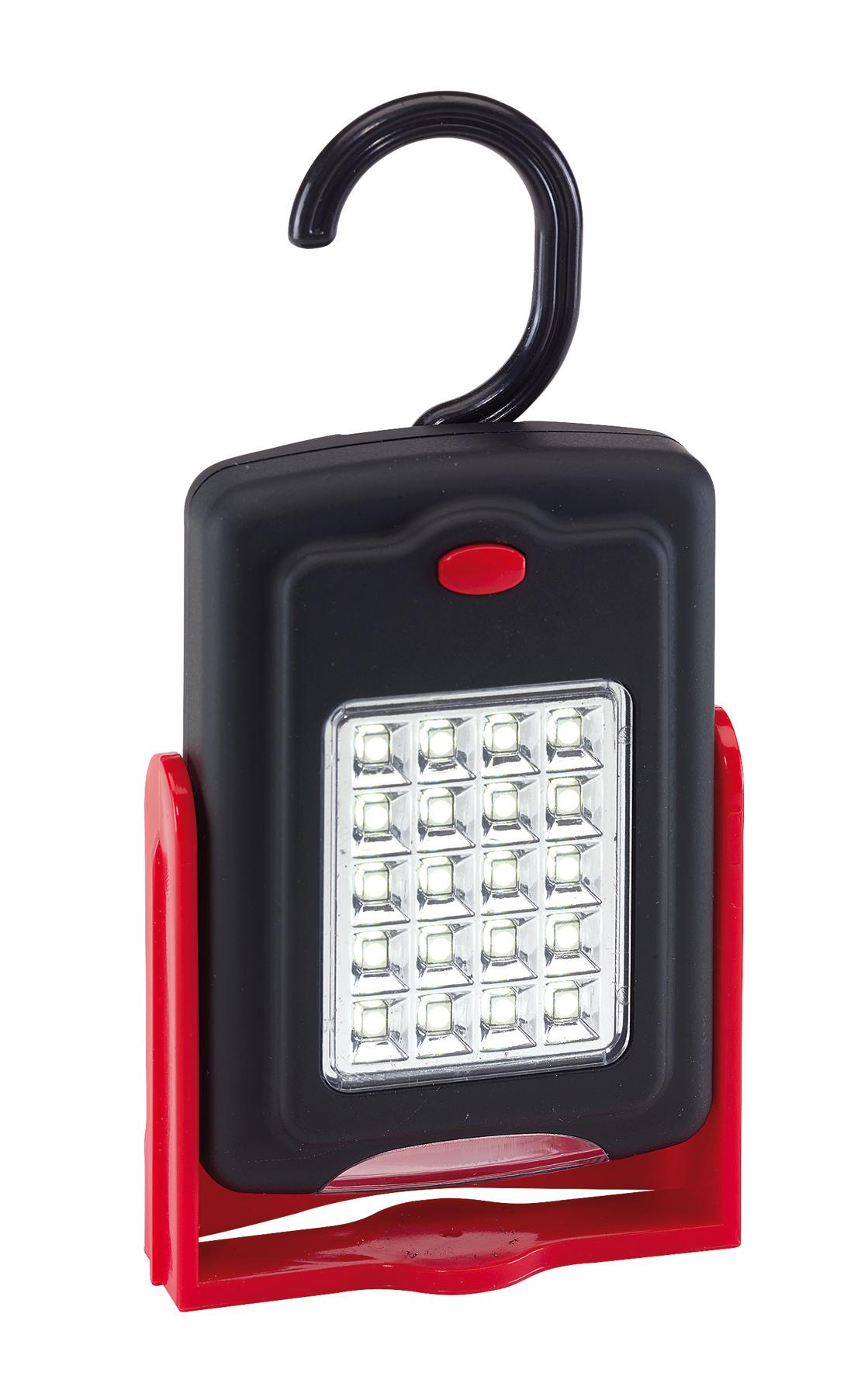 Robocza lampa WORKSHOP, czarny, czerwony