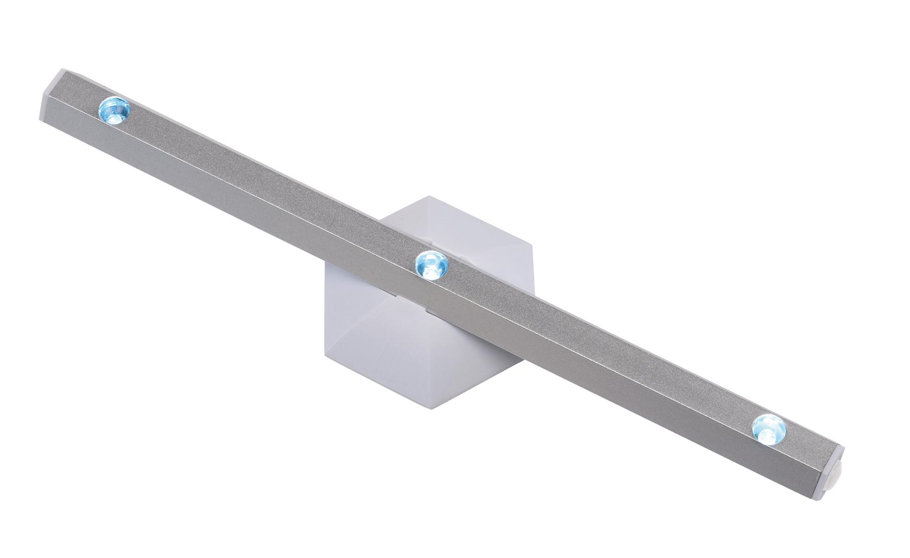 Lampka LED 3 diody Led, srebrny