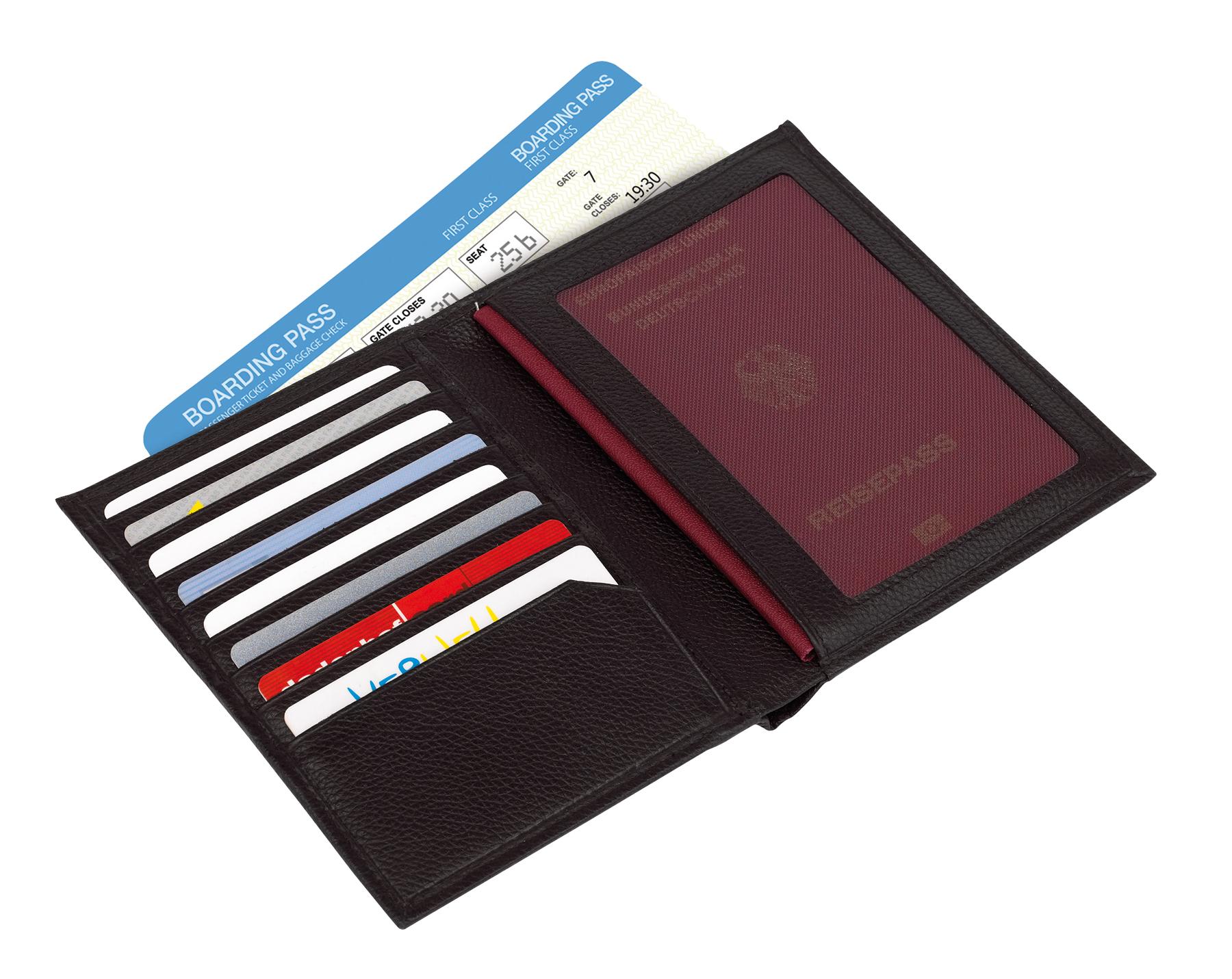 Etui na paszport VACATION, czarny