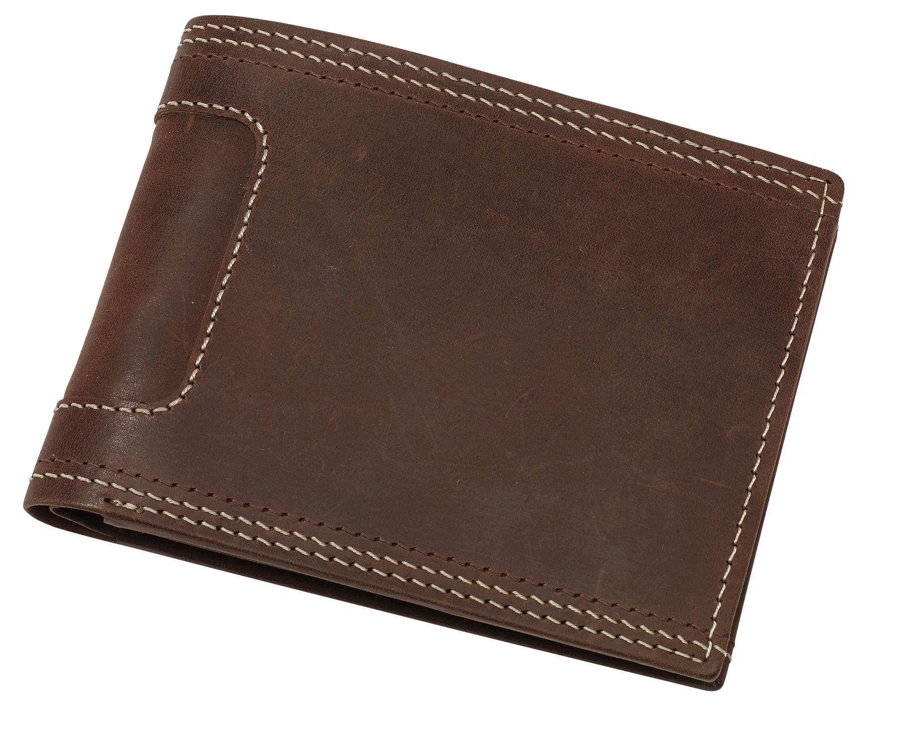 Skórzana portmonetka WILD THING, brązowy