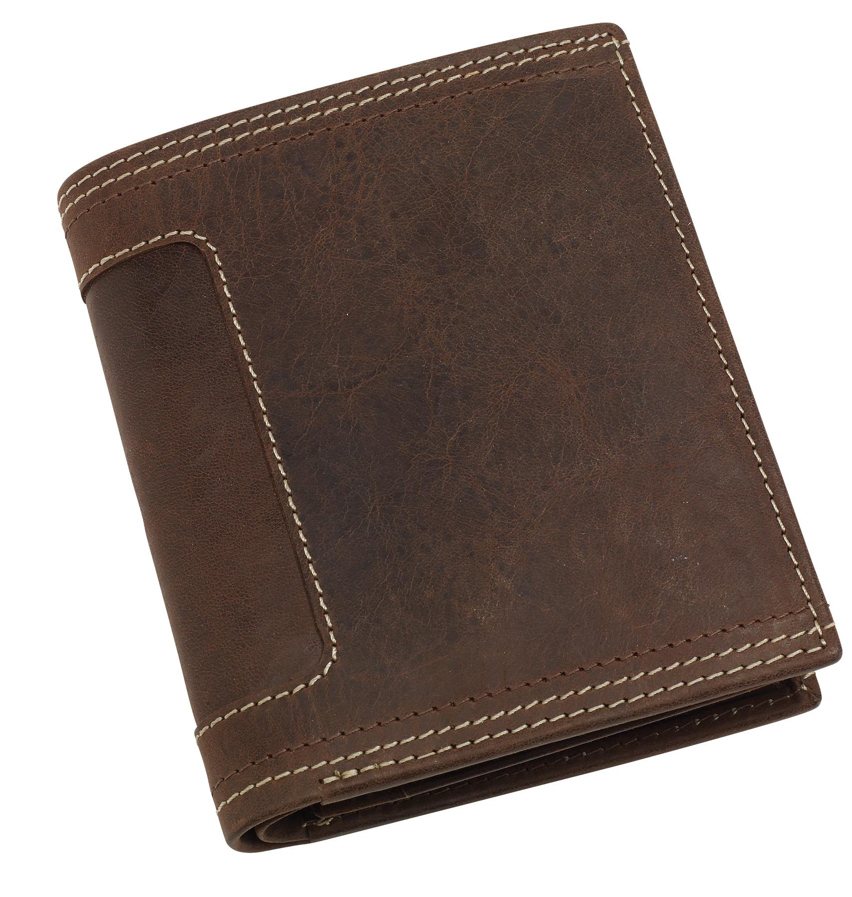 Skórzany portfel WILD THING, brązowy