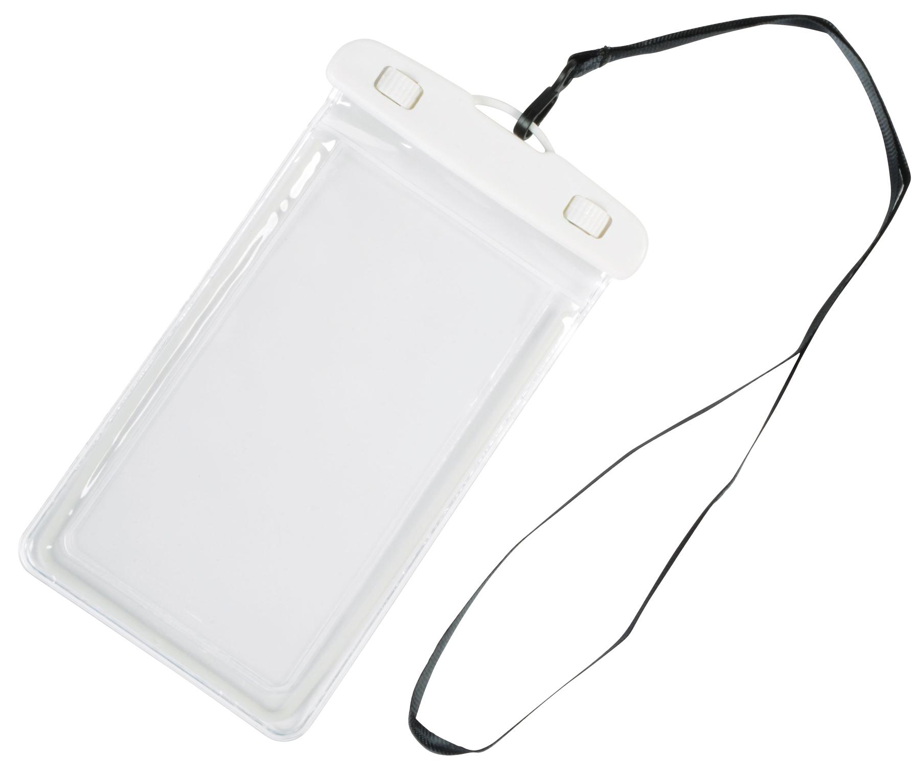 Torebka na telefon DIVER, biały, transparentny