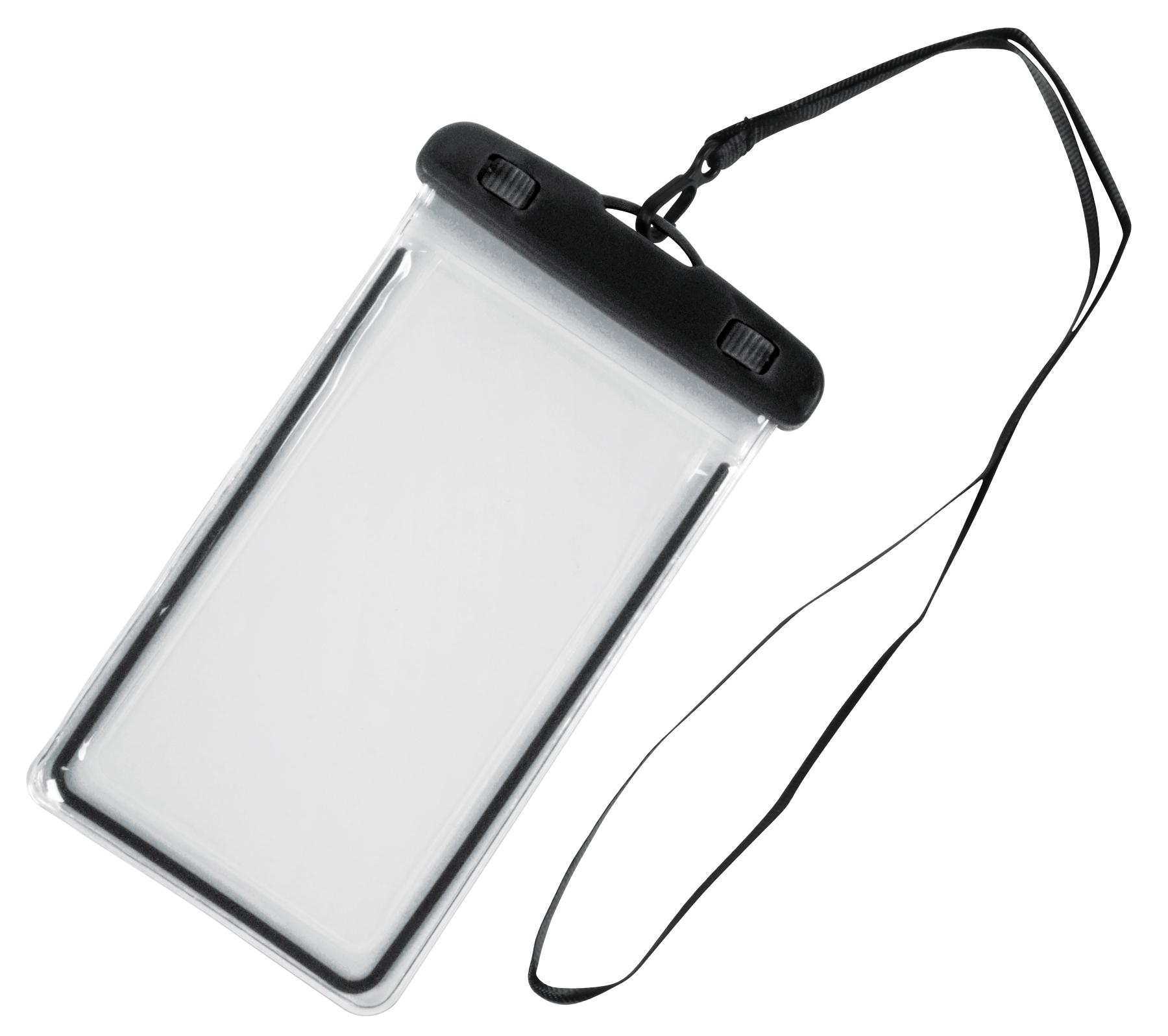 Torebka na telefon DIVER, czarny, transparentny