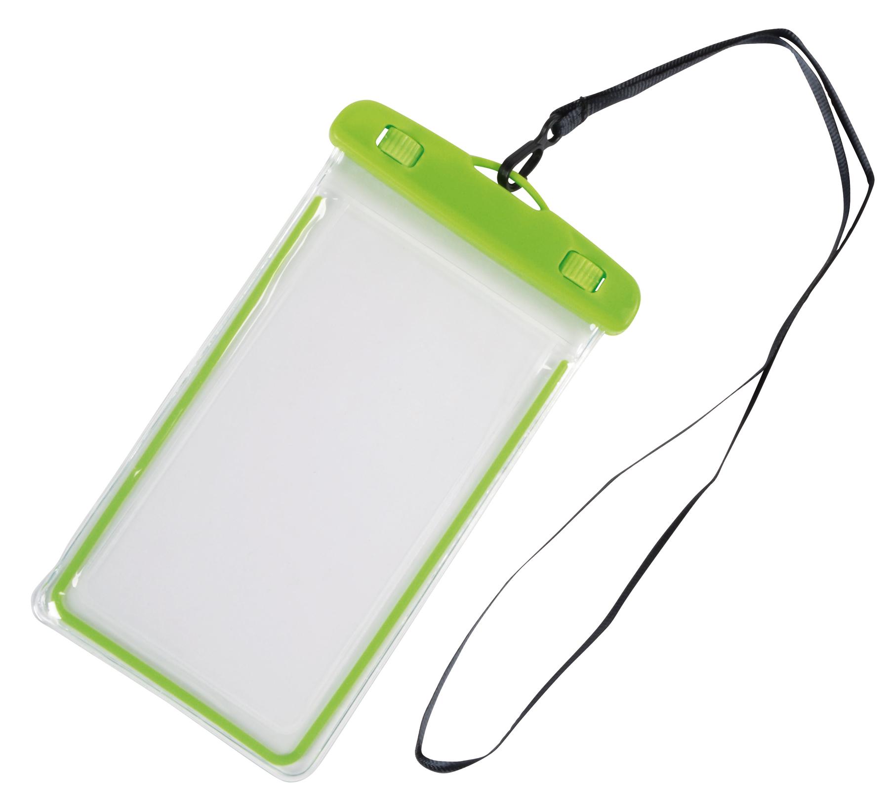 Torebka na telefon DIVER, transparentny, zielone jabłko