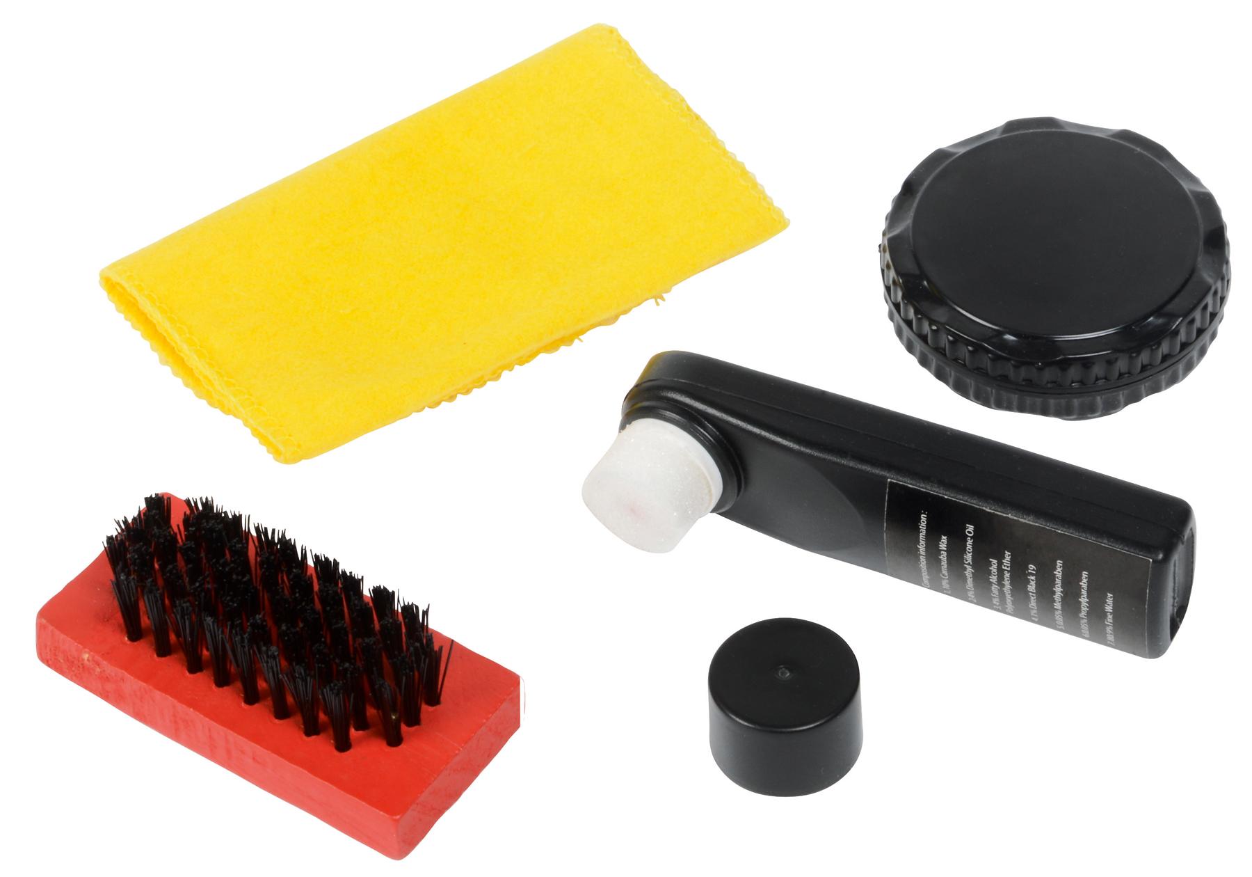 Zestaw do czyszczenia obuwia SMALL SHINE., czarny, czerwony, żółty