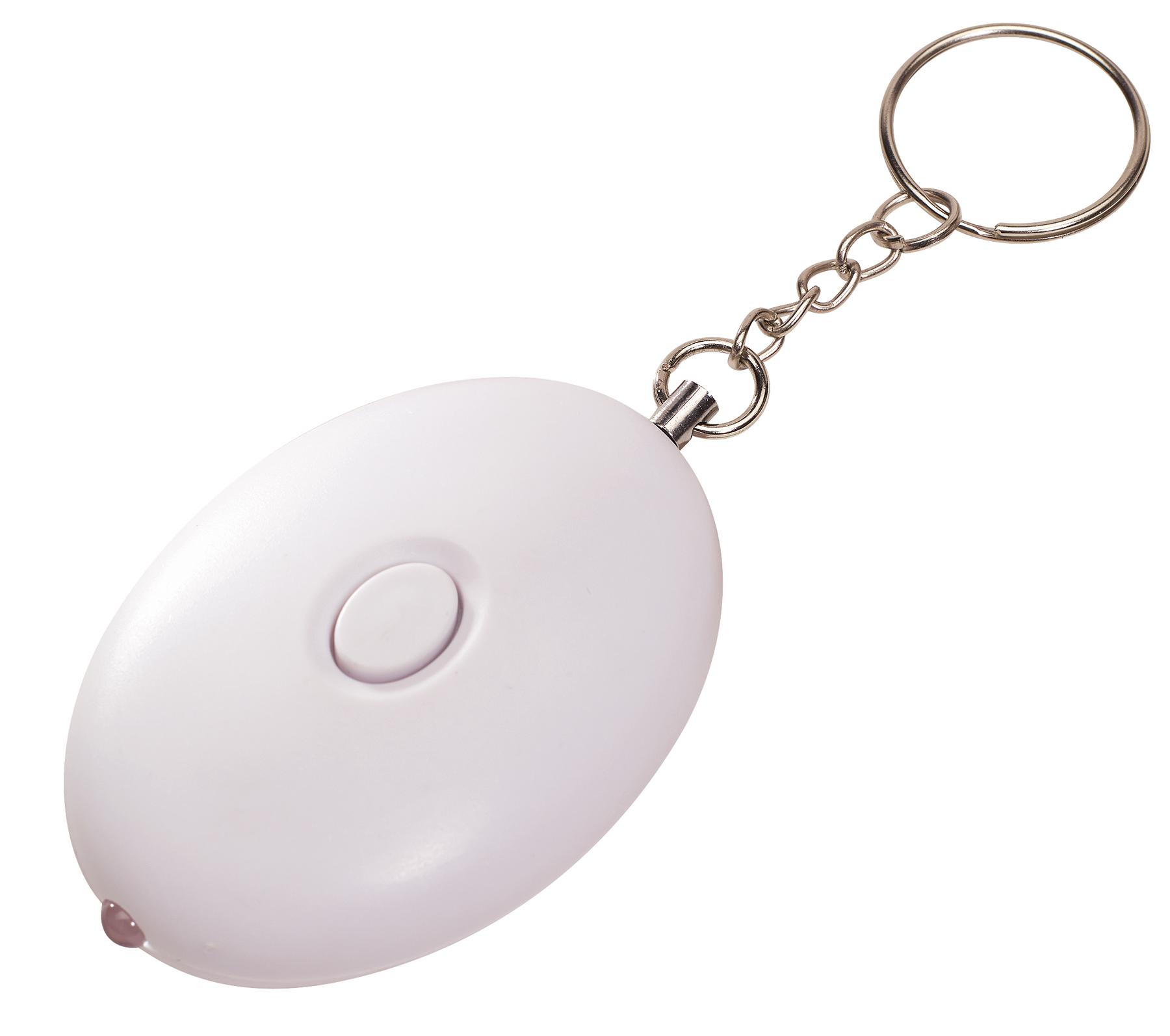 Brelok z alarmem ACOUSTIC BOMB, biały