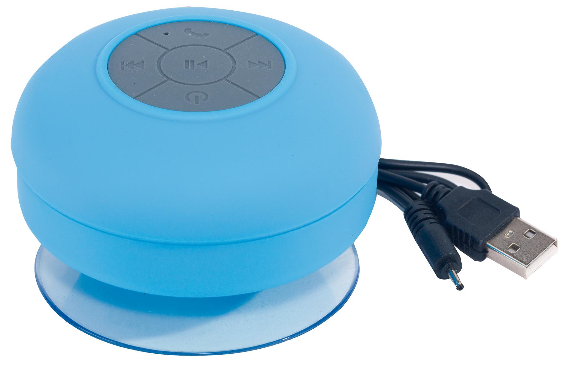 Głośnik bluetooth pod prysznic WAKE UP, niebieski, szary