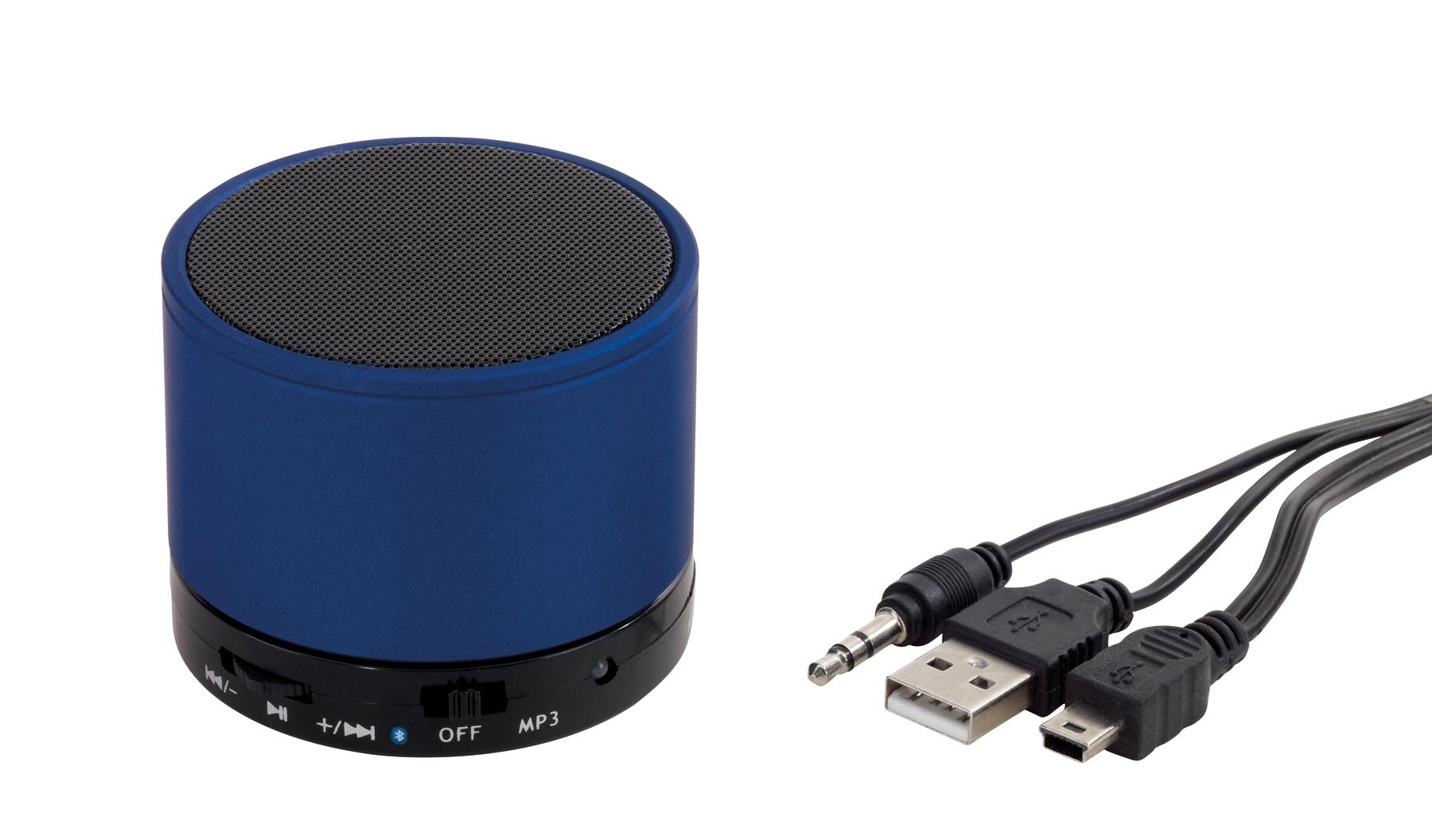 Głośnik bluetooth, niebieski