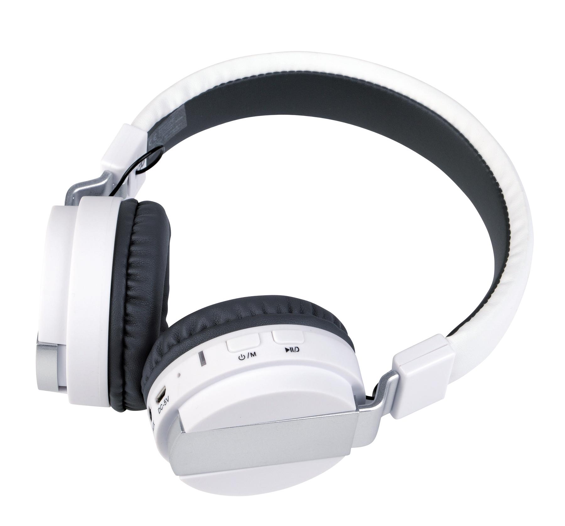 Słuchawki Bluetooth FREE MUSIC, biały