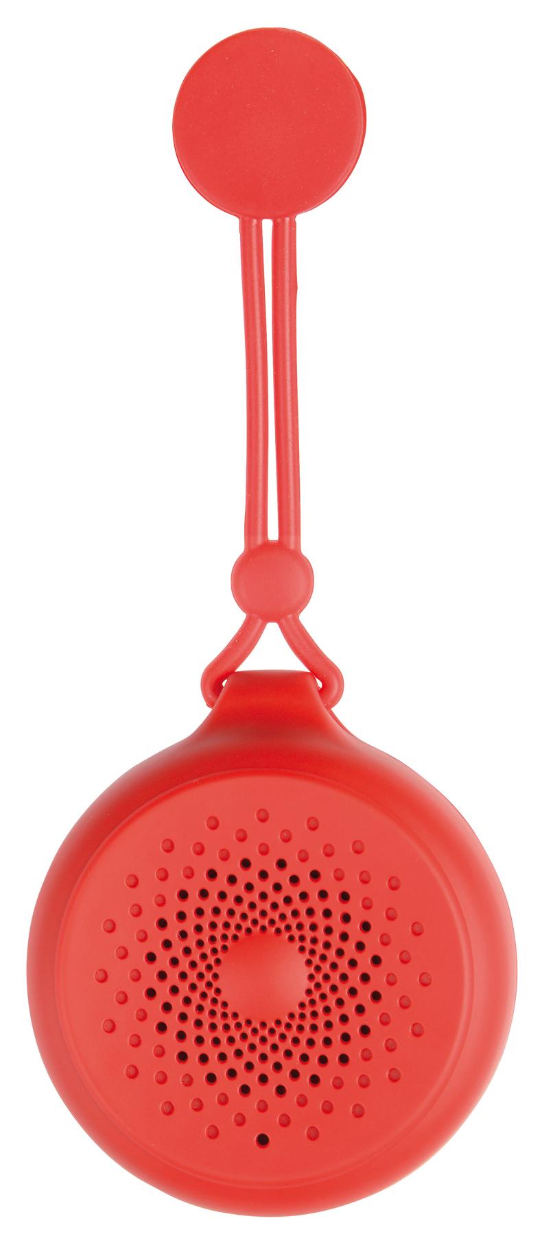 Głośnik Bluetooth SHOWER POWER, czerwony