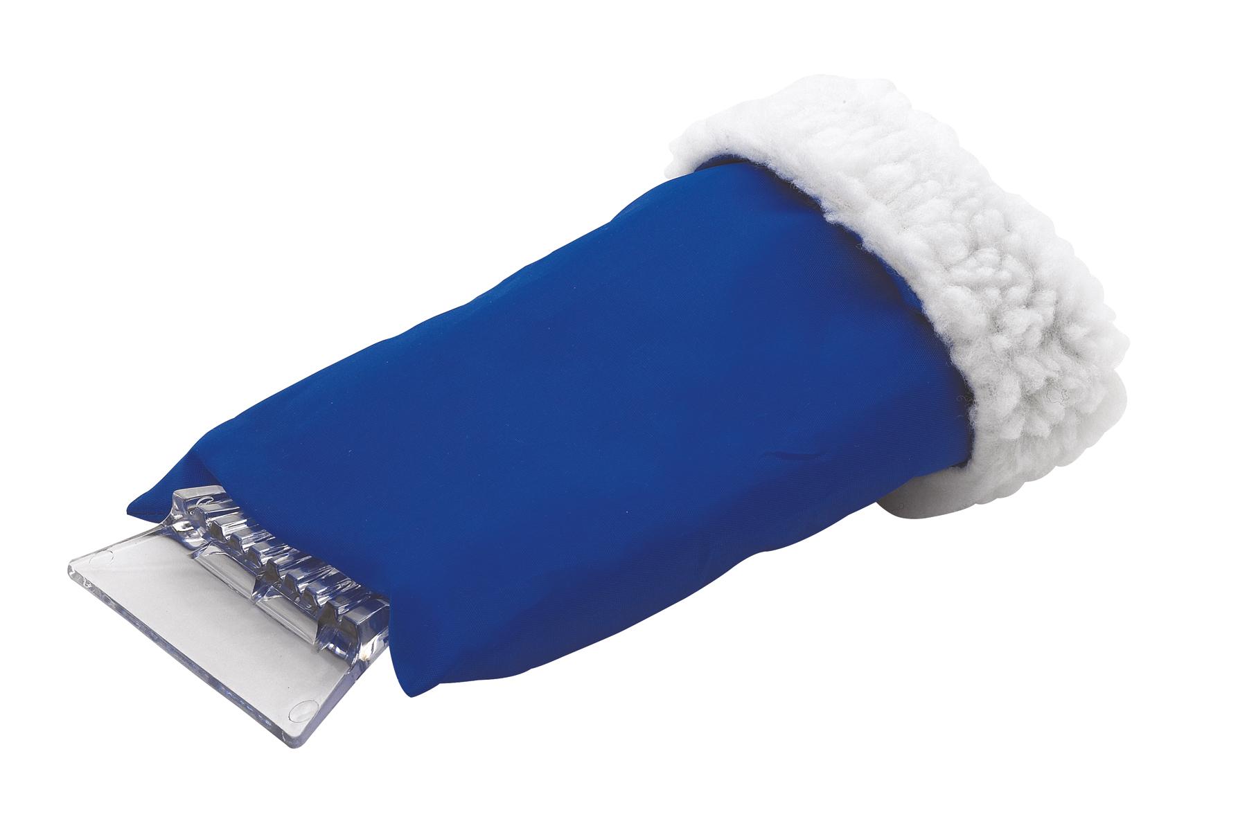 Skrobaczka do szyb z rękawicą , niebieski