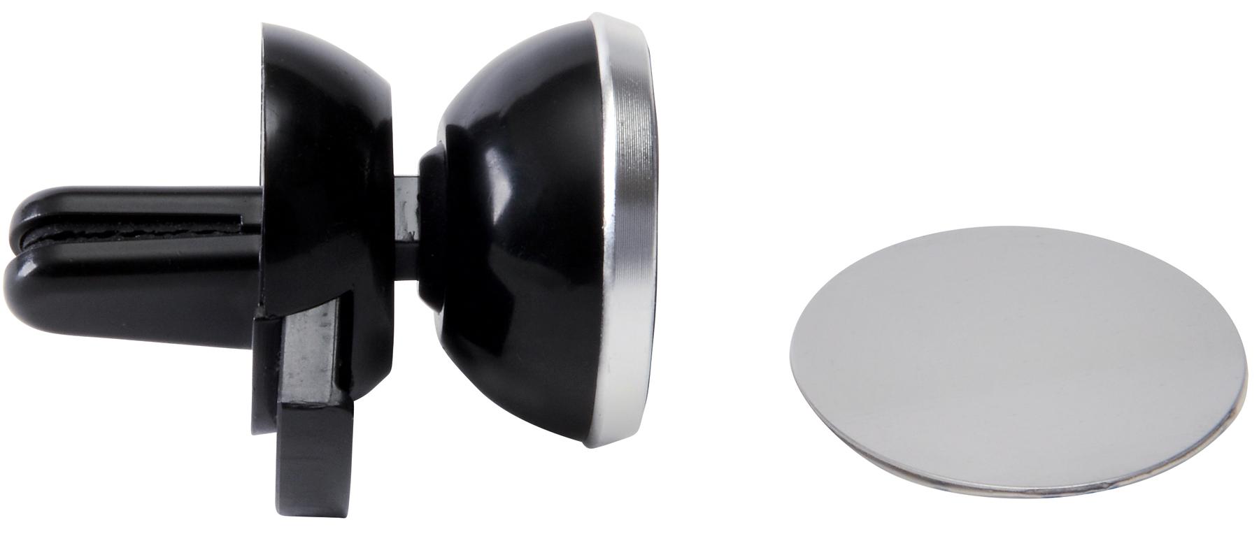 Magnetyczny uchwyt na telefon FLUX, czarny, srebrny