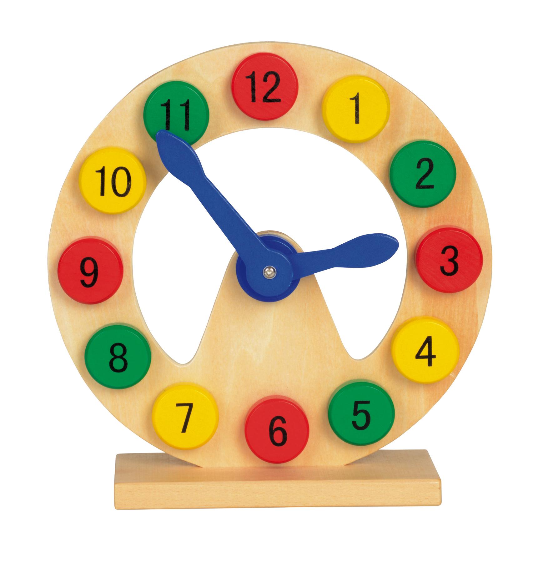 Zegar do zabawy COLOURED TIME, wielokolorowy