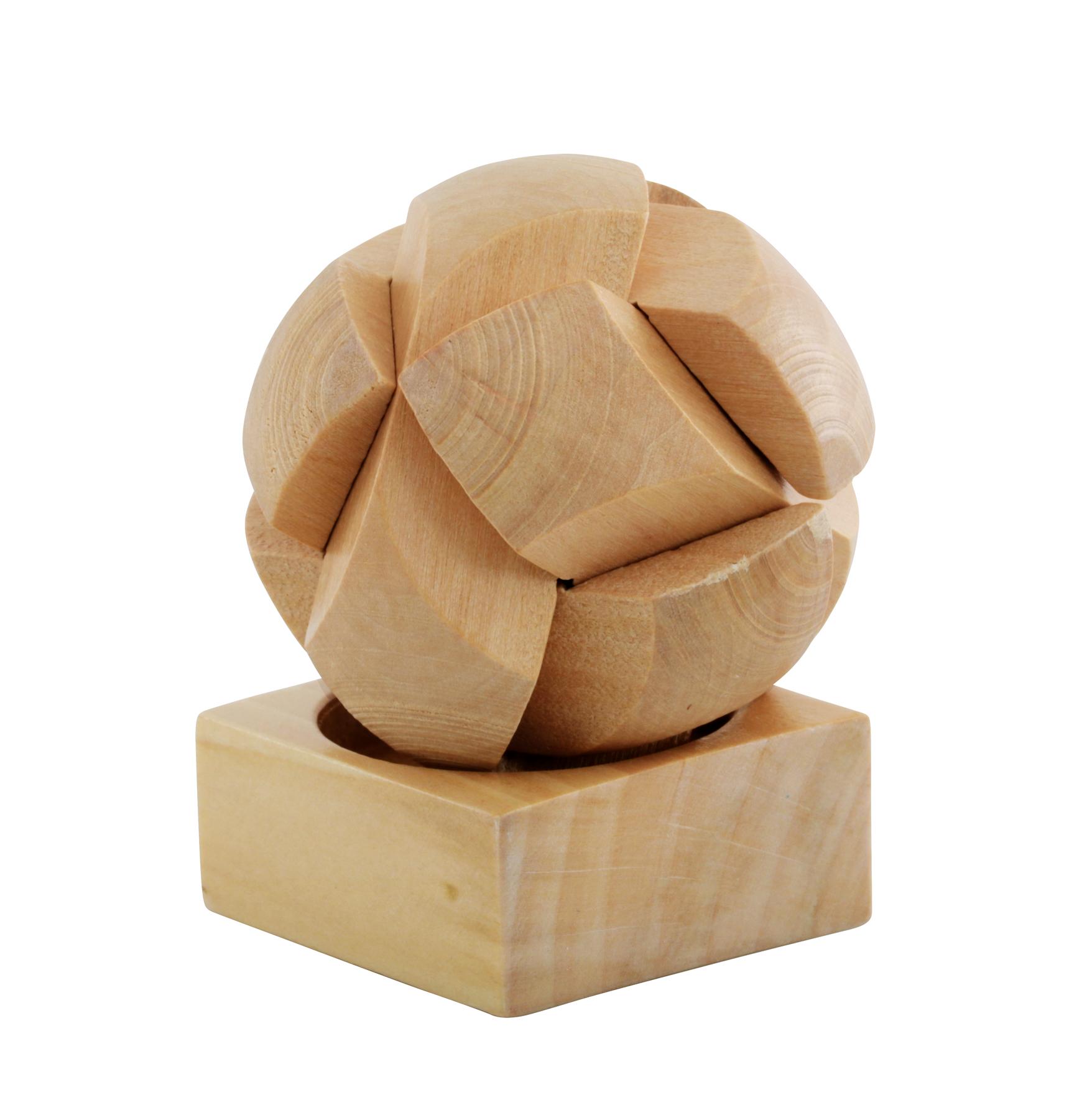 Puzzle w kształcie piłki ROUND DEXTERITY, brązowy