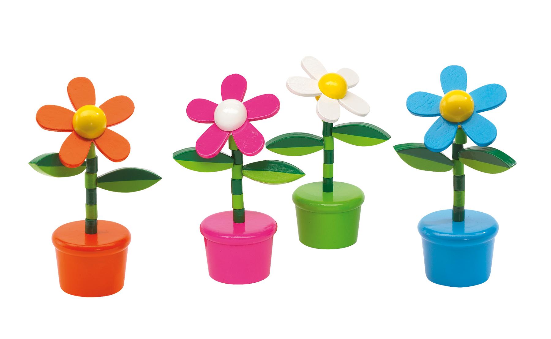 Kwiatek FLOWER POWER, biały, niebieski, pomarańczowy, różowy