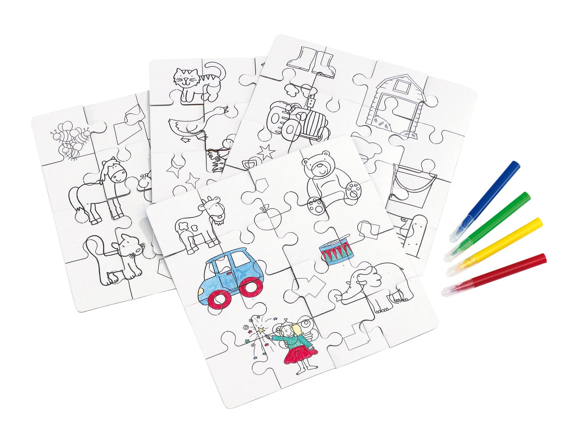 Puzzle dla dzieci PAINT YOUR PICTURE, wielobarwny