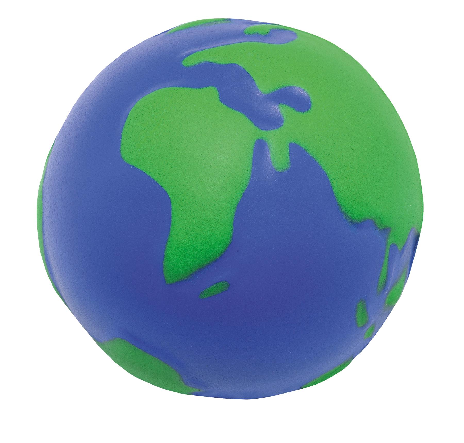 Piłeczka antystresowa GLOBUS, niebieski, zielony