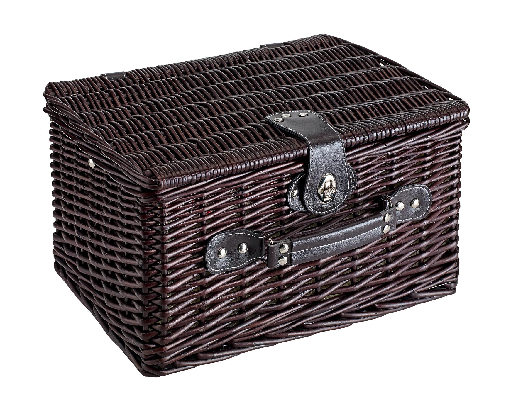 Kosz piknikowy SUNSET PARK, ciemnobrązowy